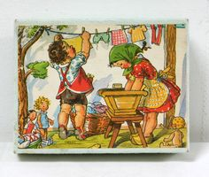 Cubes anciens illustrés par Marie Kvechova-Fisherova. www.lamerelipopette.com Doll Toys, Dolls, Sweet Pic, Vintage Paper, Vintage Children, Childrens Books, Nostalgia, Illustration Art, 1