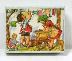 Cubes anciens illustrés par Marie Kvechova-Fisherova. www.lamerelipopette.com