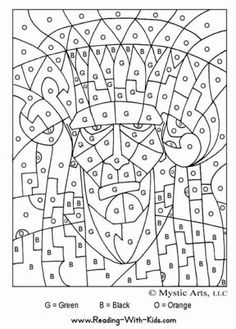 Color by number coloring pages I have a sneaking suspicion that these might be a hit...