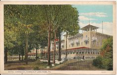 Hotel Conneaut - Conneaut Lake Park, PA Full hotel with  north and south wings in the 1920's