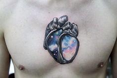 Galaxy tattoo by Denis Torikashvili