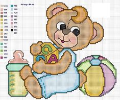 Baby Cross Stitch Patterns, Cross Stitch Baby, Afghan Crochet Patterns, Cross Stitch Flowers, Cross Stitch Charts, Cross Stitch Designs, Baby Patterns, Crocheting Patterns, Stitch Magazine