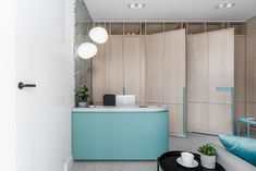View the full picture gallery of Polakowscy Dental Clinic Clinic Interior Design, Interior Design Pictures, Lobby Interior, Clinic Design, Medical Office Design, Healthcare Design, Counter Design, Hospital Design, Treatment Rooms