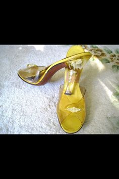 Lucite shoes