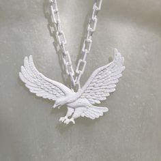 Eagle Necklace - Please Do Not Enter Walter Van Beirendonck, Guy Gifts, Royal Art, Art Academy, 3d Printing, Eagle, Silver, Fashion Design, Beauty
