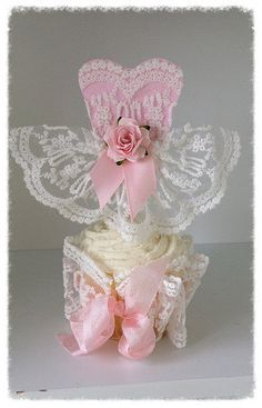 Birthday Decoration Beautiful Princess Dress Cupcake by JeanKnee