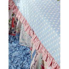 Handkerchiefs for the bed skirt...