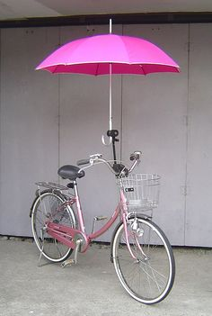 Umbrella holder installed on a Bridgestone Single Tube Size Bycicle Vintage, Bycicle Art Velo Vintage, Vintage Bicycles, Retro Bicycle, Pimp Your Bike, Velo Design, Bicycle Design, Velo Cargo, Pink Bike, Umbrella Holder