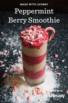 We got the most fantastical idea when we followed Buddy the Elf's snow tracks traveling through the seven levels of the candy cane forest… to make a Berry Peppermint Smoothie! Cream Soda, Ice Cream, Smoothie Recipes, Smoothies, Main Food Groups, Kefir How To Make, Farmers Cheese, Cocktails, Smoothie