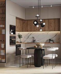 Kitchen Room Design, Home Room Design, Kitchen Cabinet Design, Modern Kitchen Design, Living Room Kitchen, Home Decor Kitchen, Interior Design Kitchen, Kitchen Furniture, New Kitchen
