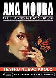 Tras agotar entradas en el Festival de Fado, Ana Moura vuelve a Madrid el 15 de noviembre, donde actuará en el Teatro Apolo. Share this on WhatsApp