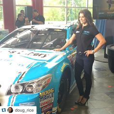 #Repost @doug_rice with @repostapp. ・・・ Danica Patrick with her new ride for 2016, Nature's Bakery