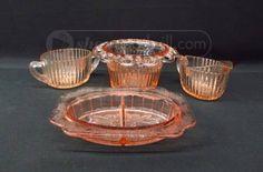 shopgoodwill.com: 4Pcs Lot of Pink Depression Glass Tableware