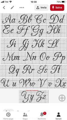 Scrittura Cross Stitch Letters Crosses Stitch Patterns Projects To Try Cross Stitch Alphabet Embroidery Stitches Cross Stitch Embroidery Names Crafts Monogram Cross Stitch, Just Cross Stitch, Cross Stitch Kits, Cross Stitch Designs, Crochet Alphabet, Cross Stitch Alphabet Patterns, Stitch Patterns, Crochet Letters, Alphabet Charts