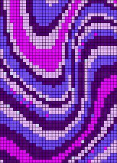 Alpha pattern #56414 variation #97509 | BraceletBook Kandi Patterns, Alpha Patterns, Beading Patterns, Graph Crochet, Pixel Crochet, Cross Stitch Art, Cross Stitch Patterns, Crochet Crafts, Crochet Projects