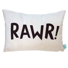 This fierce RAWR! is the perfect monochromatic accent for your little dinosaur lover. Made from a super soft velveteen you won't be able to stop snuggling up to and is made from practical polyester to