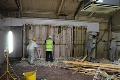 DIY SOS in the old gym at the swimming baths