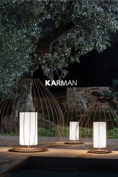 CELL ✨Over two thousand years ago in China, the very first lanterns took to the sky. It emulates their structure and their spirit. Discover our 2018 collection. Garden Lanterns, Garden Lamps, Outdoor Table Lamps, Outdoor Lighting, Outdoor Landscaping, Outdoor Gardens, Outdoor Restaurant Design, Outdoor Flooring, Landscape Lighting