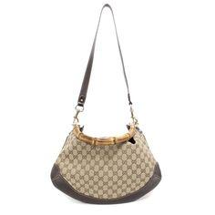 c23a1527862b Gucci Monogram Bamboo Peggy Hobo Bag - modaselle Gucci Monogram, Cartier,  Hobo Bag,