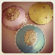 Gorgeous cupcakes with Metallic accent...different & delicious...