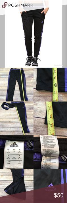 Sz Medium Adidas Tiro 15 Training Skinny Leg Pants • Measurements are in photos  • Material tag is in photos • Normal wash wear, no flaws • zipper Ankle  • Skinny leg  A3  Thank you for shopping my closet! adidas Pants Track Pants & Joggers