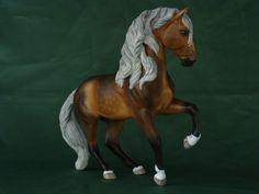 2012.Customized Breyer Classic size Warmblood model horse to Andalusian stallion. Custom by Zane Lahdenranta ( Frosty Birch Studio)