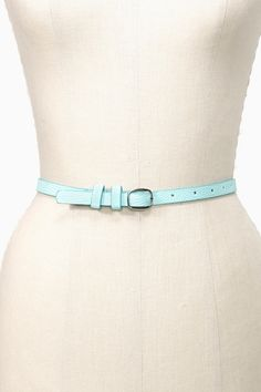 Pop Skinny Belt - Mint