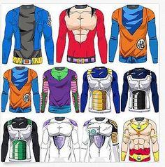 Saiyan Goku DBZ Compression Running Long Sleeve T-shirt Jersey Dragon Ball Tops