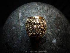 14K Chrysanthemum bead