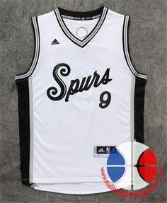 b7d417a0e9258 maillot basket nba 15-16 Xmas San Antonio Spurs Parker  9 Blanc nouveaux  tissu €24.90