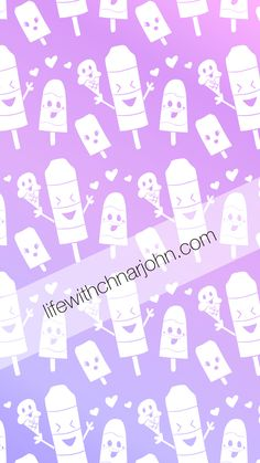 Popsicle Purple Wallpaper. iPhone wallpaper with a cute popsicle pattern from http://lifewithchnarjohn.com/art-blog/popsicles-wallpaper