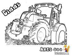 Tracteur à colorier - image à imprimer #9