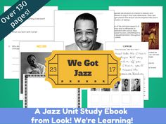 Over 130 pages of jazz unit studies for just $4.99!