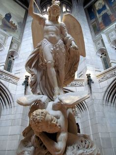 Statue of the Archangel Michael Triumphing Over Lucifer - Boston College