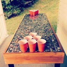 Diy Bottle Cap Crafts 851391504533076829 - DIY beer pong table Source by hlneroehrich Beer Cap Table, Bottle Cap Table, Beer Pong Tables, Bottle Cap Art, Beer Bottle Crafts, Beer Cap Crafts, Bottle Cap Projects, Diy Bottle, Miller Lite