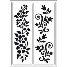 Öntapadós stencil, 15x28 cm - Nyár - Art-Export webáruház Stencils, Stencil Stickers, Stencil Templates, Stencil Patterns, Stencil Designs, Jaali Design, Cnc Cutting Design, Pvc Pipe Crafts, Paper Flower Patterns