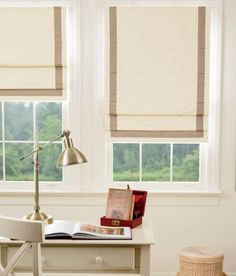 Blackout Bordered Roman Shade - Cordless - Country Curtains®