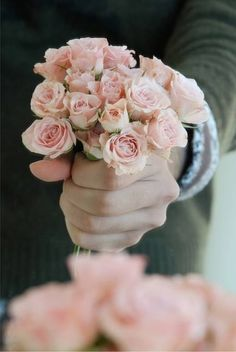 """You would always say """"Bring me flowers when I'm alive ,so I can enjoy them. Not when I'm gone. """" : ( Here's one of your favourite.... Baby pink roses. Because your alive in my dreams."""