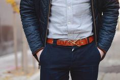 Novelty belts are a nice switch from the norm. Do you like yes or no? #mensfashion #menswear #menstyle #TRGent