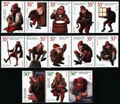 goblin christmas stamps