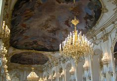 Chandeliers at Schonbrunn Imperial Palace