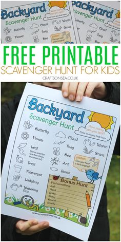 outdoor scavenger hunt for kids free printable Get outside with this free printable outdoor scavenger hunt for kids created for backyards and gardens. This cute PDF can be coloured in as they go. Adult Scavenger Hunt, Backyard Scavenger Hunts, Summer Scavenger Hunts, Nature Scavenger Hunts, Preschool Scavenger Hunt, Outdoor Activities For Kids, Preschool Activities, Family Outdoor Activities, Activities For Babysitting