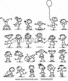 Cute happy cartoon kids is part of Doodles - Illustration of Cute happy cartoon kids vector art, clipart and stock vectors Image 14501423 Doodle Art, Doodle Drawings, Easy Drawings, Doodle Kids, Doodle People, Amazing Drawings, Happy Cartoon, Cartoon Kids, Free Cartoon Images