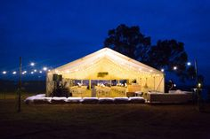 Wedding Marquee - How to turn a paddock in to a venue. www.albanyeventhire.com.au www.krystaguille.com