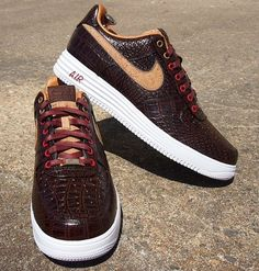 Nike Air Force 1 Lunar Bespoke Reversed Cork by Slovadon