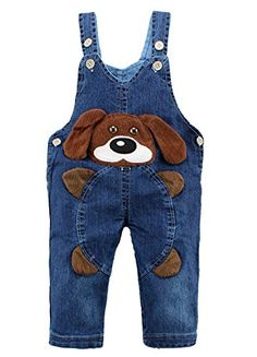 Kidscool Baby Cotton Denim 3D Cartoon Coffee Dog Soft Overalls -- Want additional info? Click on the image. Toddler Boy Outfits, Baby & Toddler Clothing, Kids Outfits, Baby Sewing Projects, Baby Kind, Baby Wearing, Kids Wear, Boy Fashion, Fashion Design