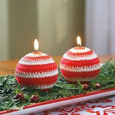 Designer Holiday Ball Candles