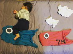 お昼寝アート 鯉のぼり