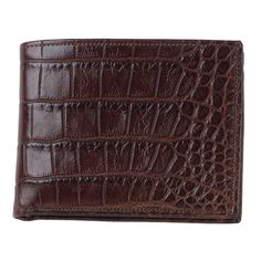 If you're looking for a smart, stylish wallet in a smaller size, the Alligator Bi-Fold is for you.
