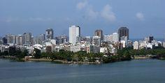 Rio de Janeiro 13 (Ipanema 2 - aerial view from Rodrigo de Freitas Lake) - Brazil